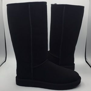 UGG Classic II Black Wool Suede Boots